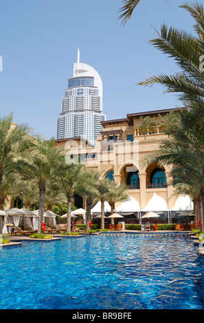 The swimming pool of the address downtown dubai hotel for Best hotels in dubai for couples