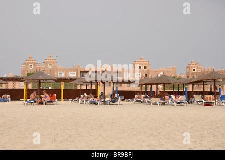 Sal beach in Cape Verde near Club Hotel Riu Garopa - Stock Photo