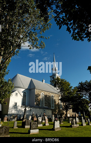 The church at Notre Dame de Portage in Quebec - Stock Photo