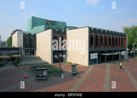 Stadttheater auf dem Theaterplatz in Krefeld, Rhein, Niederrhein, Nordrhein-Westfalen - Stock Photo