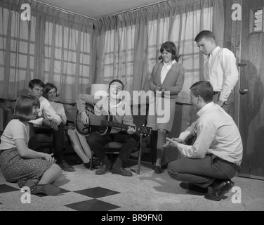 1950s Group Boys And Girls Playing Geography Board Game In