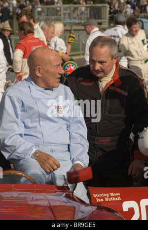 Goodwood Festival of Speed. Goodwood Sussex UK. Sterling Moss and Ian Nuthall  HOMER SYKES - Stock Photo