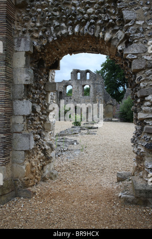 Wolvesey castle, Winchester. - Stock Photo