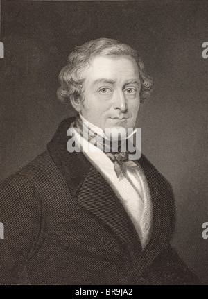 Sir Robert Peel, 2nd Baronet, 1788 to 1850. British Conservative statesman, twice Prime Minister of the United Kingdom. - Stock Photo