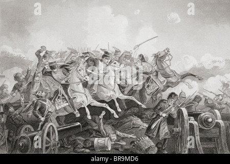The Battle of Balaclava Haro Prii, Crimea, 25 October 1854.  Charge of the Light Brigade. - Stock Photo
