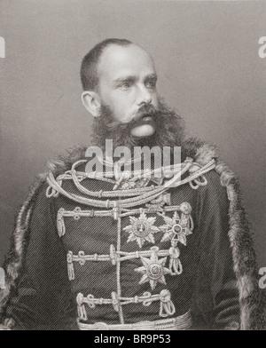 Franz Joseph I or Francis Joseph I, 1830 to 1916. Emperor of Austria, King of Bohemia and Apostolic King of Hungary. - Stock Photo