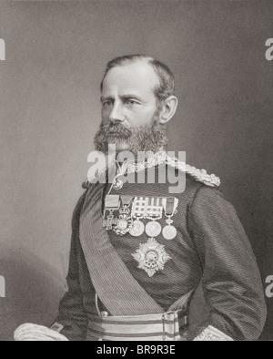 Field Marshal Frederick Sleigh Roberts, 1st Earl Roberts,1832 to 1914. Anglo-Irish soldier and commander. - Stock Photo