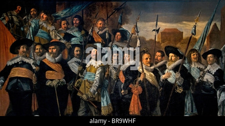 Netherlands Frans Hals   1582-1666 Painting Officers and subalterns of the St George Civic Quard 1639 - Stock Photo