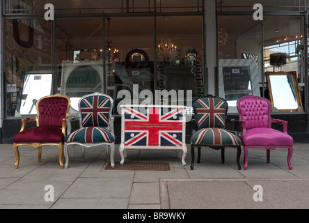 Union Jack Furniture Display   Stock Photo