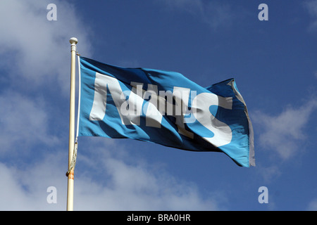 NHS (National Health Service) flag in England, UK - Stock Photo