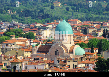 Florenz Synagoge - Great Synagogue of Florence 01 - Stock Photo