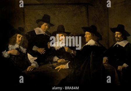 Netherlands  Frans Hals  1582-1666  Painting Regents of the St Elisabeth Hospital Haarlem 1641 - Stock Photo