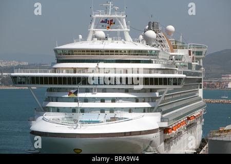 P&O Liner AZURA  on her maiden season visiting Gibraltar. - Stock Photo