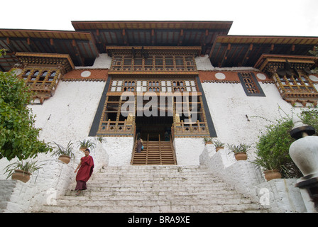 The tsong (old castle) of Punakha, Bhutan, Asia - Stock Photo