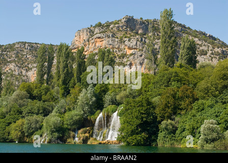 Waterfall in the Krka National Park, Croatia, Europe - Stock Photo