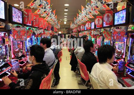 Pachinko parlor, Electric Town, Akihabara, Tokyo, Japan, Asia - Stock Photo