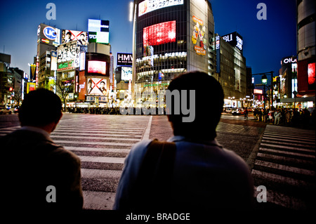 Hachiko crossing, Shibuya, Tokyo, Japan, Asia - Stock Photo