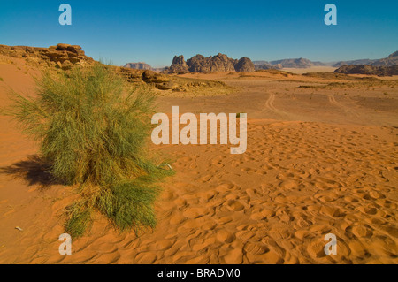 The stunning desert scenery of Wadi Rum, Jordan, Middle East - Stock Photo