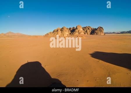 The stunning desert scenery of Wadi Rum, Jordan, Middle East - Stock Photo