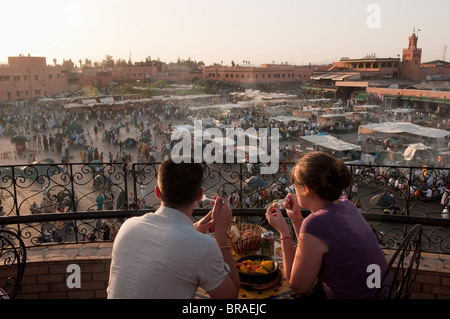 Djemaa el Fna Square, Marrakech, Morocco, North Africa, Africa - Stock Photo