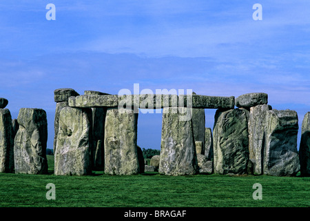 close-up abstract of the stones at Stonehenge in England - Stock Photo