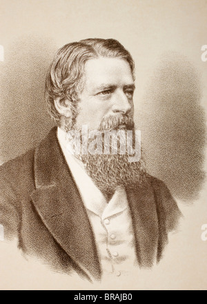 Stafford Henry Northcote, 1st Earl of Iddesleigh, 1818 – 1887. British Conservative politician. - Stock Photo