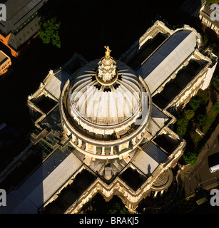Aerial image of St. Paul's Cathedral, Ludgate Hill, City of London, London, England, United Kingdom, Europe - Stock Photo