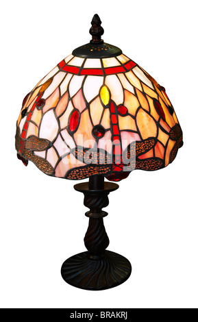 Art Deco Lamp isolated with clipping path - Stock Photo