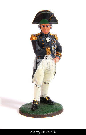 A collectible miniature figure of Vice-admiral Lord Horatio Nelson by Del Prado - Stock Photo