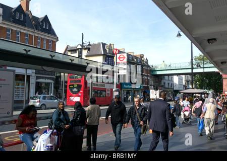 united kingdom london brixton view of the high street - Stock Photo