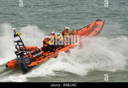 Sheringhams Lifeboat, 'The Oddfellows', an Atlantic 85 B class inshore rigid hull inflatable. - Stock Photo