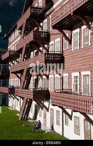 Many Glaciers Hotel, Glacier National Park, Montana.