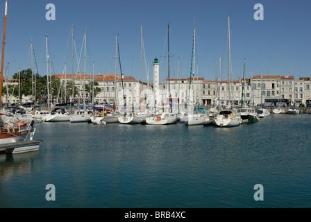 La Rochelle Old Port Harbor, Vieux Port in Poitou Charentes France - Stock Photo