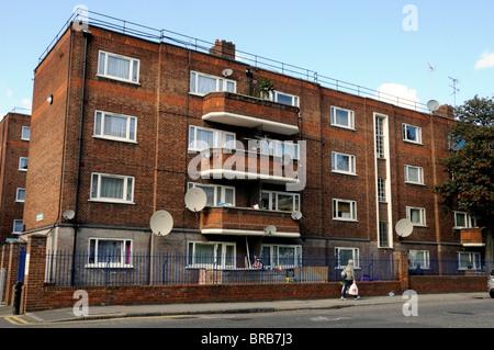 Council Flats Hackney London England UK - Stock Photo