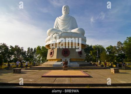 Giant Buddha at the Long Son Pagoda, Nha Trang, Vietnam, Indochina, Southeast Asia, Asia - Stock Photo