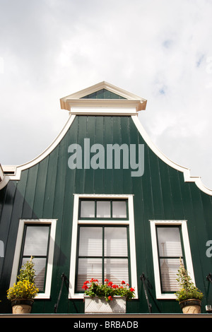Dutch typical historic house in Volendam. Holland - Stock Photo