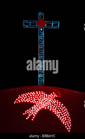 Cross and Holy Spirit, World Youth Day in 2008, Sydney, New South Wales, Australia - Stock Photo