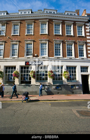 The Natwest Bank The Market Place Kingston Upon Thames Surrey England - Stock Photo