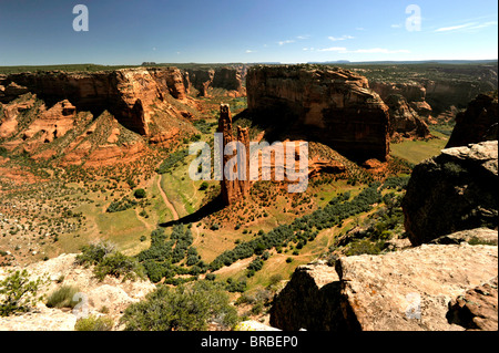Spider rock Canyon de Chelly National Park - Stock Photo
