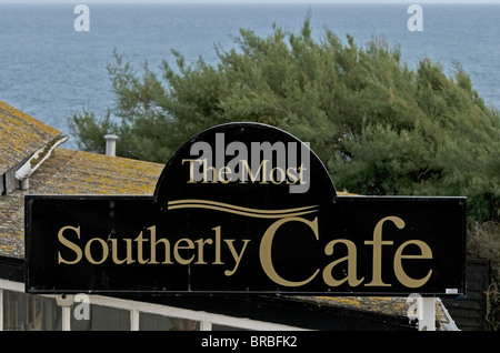 Polpeor Café. The most Southerly Café in England at Lizard Point, Cornwall,UK.  Open almost all year. - Stock Photo