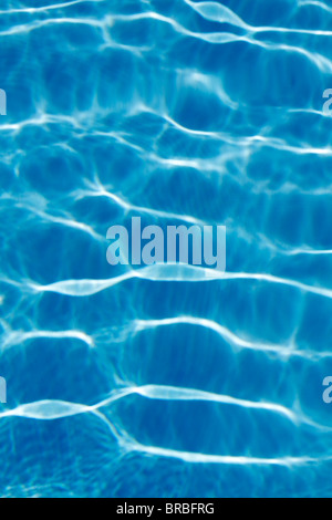 Light reflections in a swimming pool - Stock Photo
