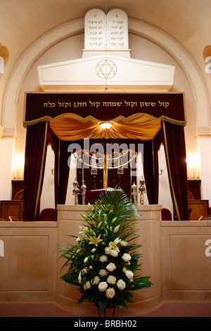 Synagogue wedding canopy, Neuilly-sur-Seine, Hauts de Seine, France - Stock Photo