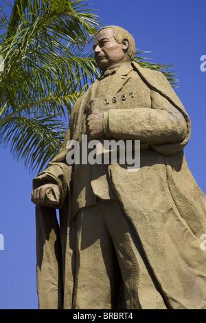 Statue of Benito Juarez on the Malecon, Acapulco City, State of Guerrero, Mexico - Stock Photo