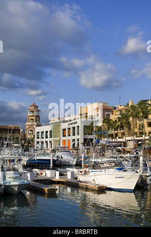 Boat Marina in Cabo San Lucas, Baja California Sur, Mexico - Stock Photo