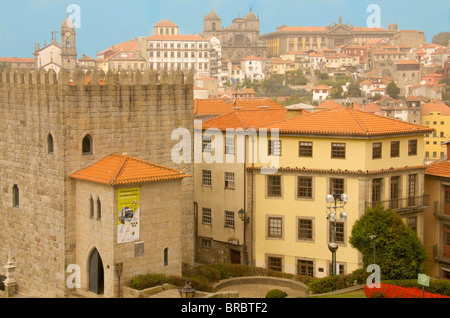 The Se Cathedral and the city of Porto, Portugal - Stock Photo