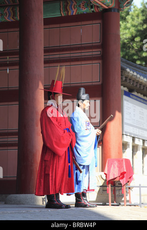 Changing of the Guards, Deoksugung Palace (Palace of Virtuous Longevity), Seoul, South Korea - Stock Photo
