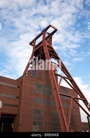 Shaft 12 of Zollverein Coal Mine Industrial Complex in Essen, UNESCO World Heritage Site - Stock Photo