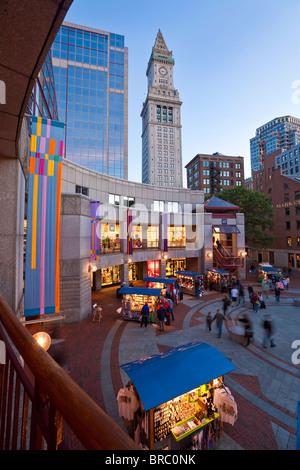 Quincy Market, Boston, Massachusetts, New England, USA - Stock Photo