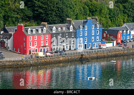 Tobermory's, colourful waterfront on the island capital of Mull in the Inner Hebrides, Scotland.  SCO 6713 - Stock Photo