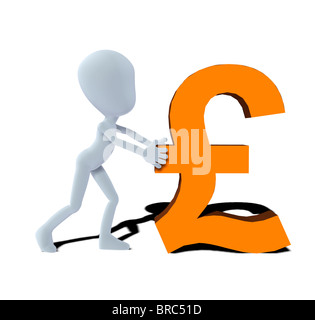 concept figure with pound symbol - Stock Photo